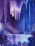 Caverna do gelo fotografia de stock