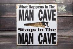 Caverna do homem imagem de stock