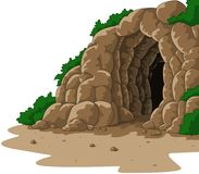 Caverna dos desenhos animados isolada no fundo branco ilustração stock