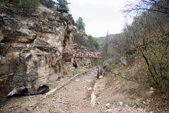 A caverna dos ventos danificou o sinal fechado da sa?da fotografia de stock royalty free
