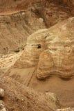 Caverna em Qumran Fotografia de Stock
