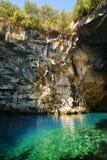 Caverna famosa di Melissani Fotografia Stock Libera da Diritti