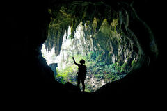 Caverna feericamente malaysia Foto de Stock