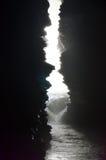 Caverna interna da cachoeira das quedas ou do diabo do inferno em Pokhara em Nepal Imagem de Stock