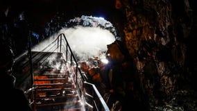 Caverna Islândia da lava foto de stock royalty free
