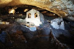 Caverna lombardic de Olevano fotografia de stock