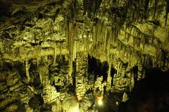 Caverna mineral subterrânea Imagens de Stock