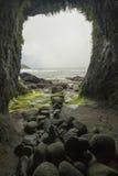 Caverna na cabeça de Heceta foto de stock royalty free