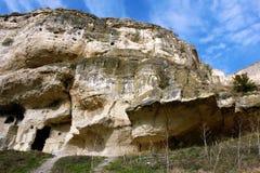 Caverna na rocha imagens de stock royalty free