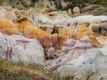 Caverna nelle miniere dipinte fotografie stock libere da diritti
