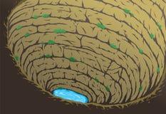 Caverna profonda Immagine Stock