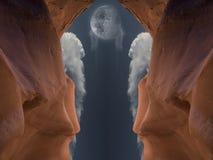 Caverna rossa immagini stock