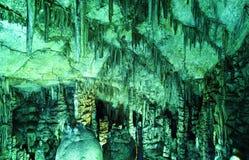 Caverna sacra antica di Minoan Psychro dove il dio Zeus nasceva Crete, Grecia fotografie stock
