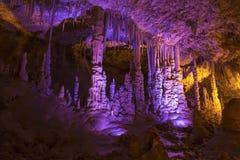 Caverna Sorek della stalattite in Israele, distretto di Beit Shemesh, fotografia stock