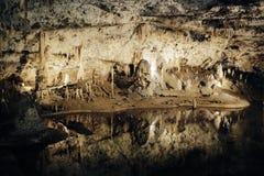 Caverna sotteranea Fotografia Stock