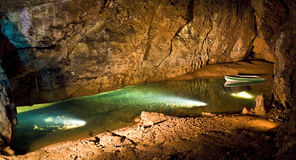 Caverna sotterranea Fotografia Stock