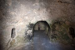 Caverna sotterranea di sepoltura, Gerusalemme immagini stock libere da diritti