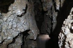 Caverna sotterranea naturale antica del cristallo Fotografia Stock Libera da Diritti