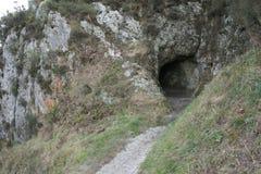 Caverna sulla cima di Pico Sacro Immagine Stock