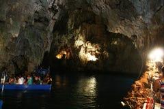 Caverna turistica Immagini Stock