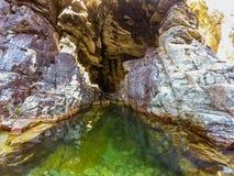 Caverna verde imagem de stock