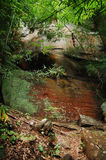 Caverna vermelha Fotografia de Stock