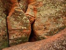 Caverna vermelha foto de stock