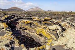Caverna vulcânica na ilha de Lanzarote Ilhas Can?rias fotos de stock royalty free