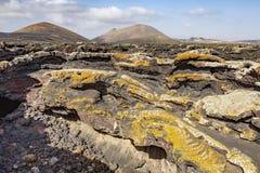 Caverna vulc?nica na ilha de Lanzarote Ilhas Can?rias imagem de stock