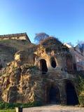 Cavernas da rocha do castelo Fotos de Stock Royalty Free