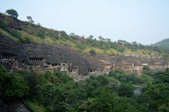 Cavernas de Ajanta, Índia Fotos de Stock Royalty Free