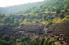 Cavernas de Ajanta, Índia Imagens de Stock
