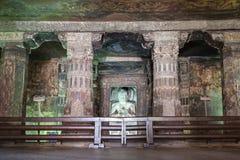 Cavernas de Ajanta, Índia Fotografia de Stock Royalty Free