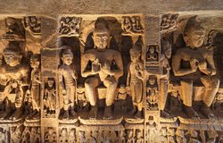 Cavernas de Ajanta, Índia Foto de Stock Royalty Free