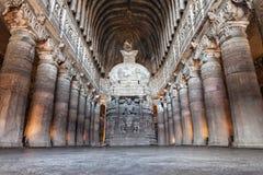 Cavernas de Ajanta, Índia Fotografia de Stock