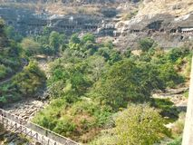 Cavernas de Ajanta Fotografia de Stock Royalty Free