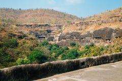 Cavernas de Ajanta na Índia Fotografia de Stock Royalty Free