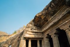 Cavernas de Ajanta na Índia Foto de Stock Royalty Free
