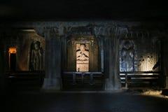 Cavernas de Ajanta na Índia Fotografia de Stock