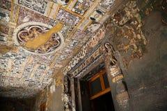 Cavernas de Ajanta na Índia Foto de Stock