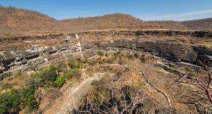 Cavernas de Ajanta perto de Aurangabad Imagens de Stock Royalty Free