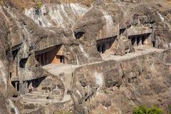 Cavernas de Ajanta perto de Aurangabad Foto de Stock