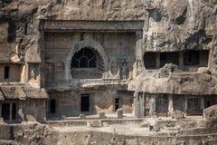 Cavernas de Ajanta perto de Aurangabad, Imagens de Stock Royalty Free