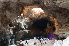 Cavernas de Borra, vale de Araku, Andhra Pradesh, Índia Imagem de Stock