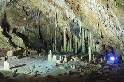 Cavernas de Diros imagem de stock royalty free