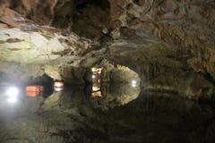 , Cavernas de Diros, Grécia fotos de stock royalty free