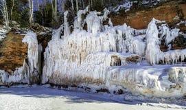 Cavernas de gelo de Wisconsin fotos de stock