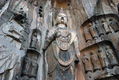 Cavernas de Longmen Fotos de Stock Royalty Free