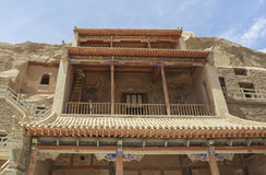Cavernas de Mogao em Dunhuang, China Foto de Stock Royalty Free