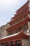 Cavernas de Mogao em Dunhuang, China Imagens de Stock
